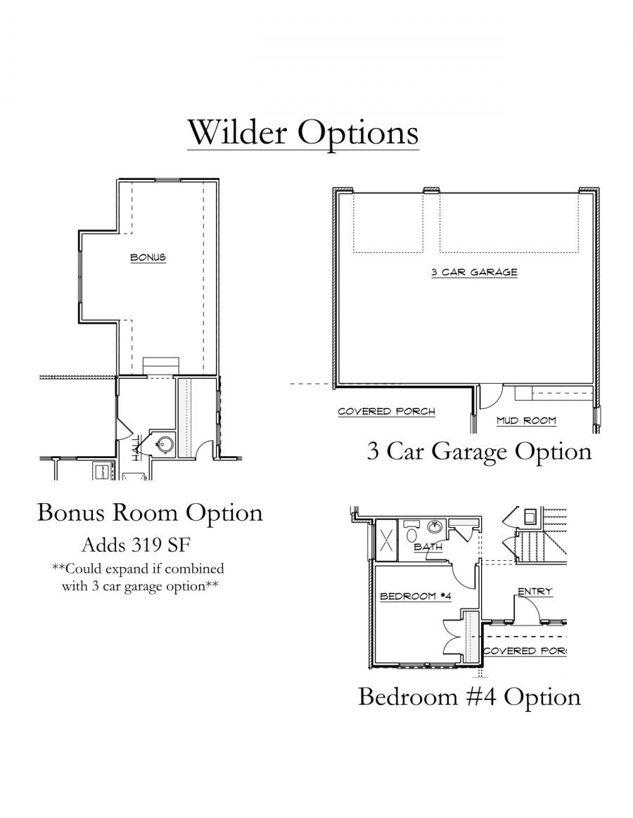 Wilder Floorplan Options