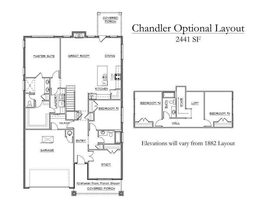 Chandler Optional 2,441sqft layout