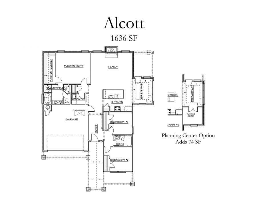Alcott Collection House Plans in Town Square Edmond OK – Mccaleb Homes Floor Plans