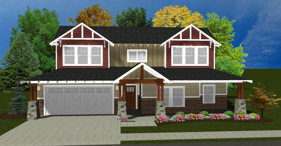 Hawthorne Craftsman B (Only for added 4th Bedroom Option)