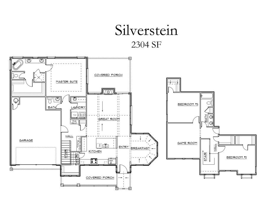 Home Plan Silverstein Collection for Modern Homes in Edmond OK – Mccaleb Homes Floor Plans