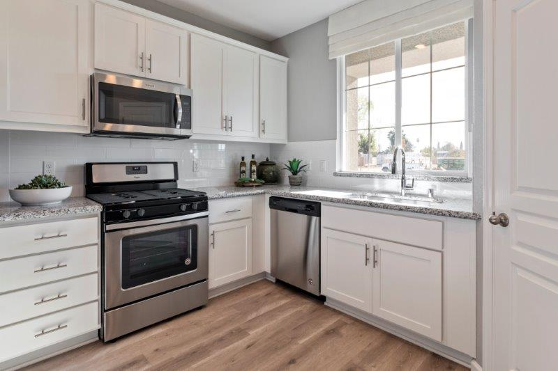 Standard black on stainless steel appliances