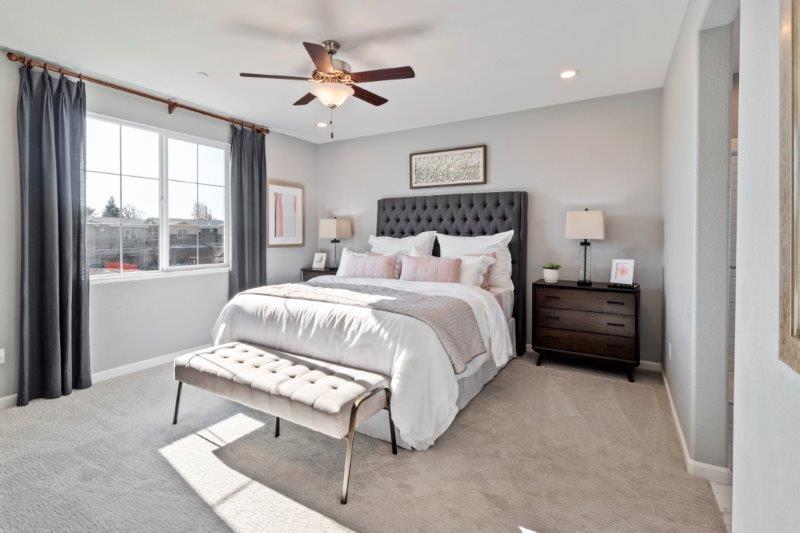 Master Bedroom drenched in natural light