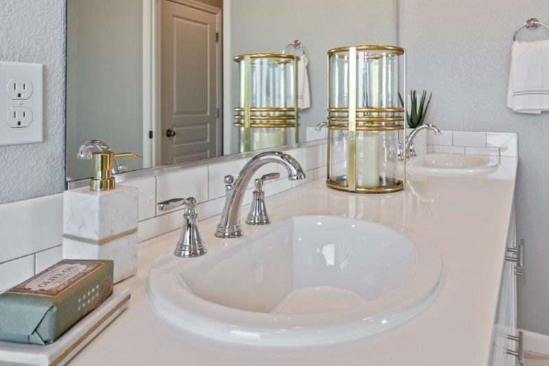 Master Bath features dual vanity sinks