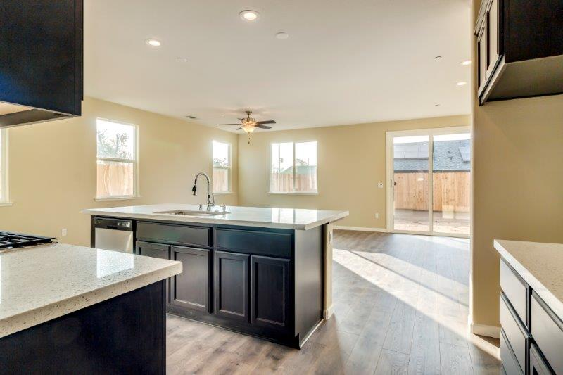 View into kitchen from drop zone