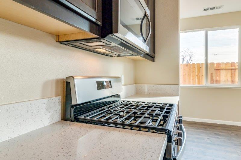 Standard black on stainless steel appliances