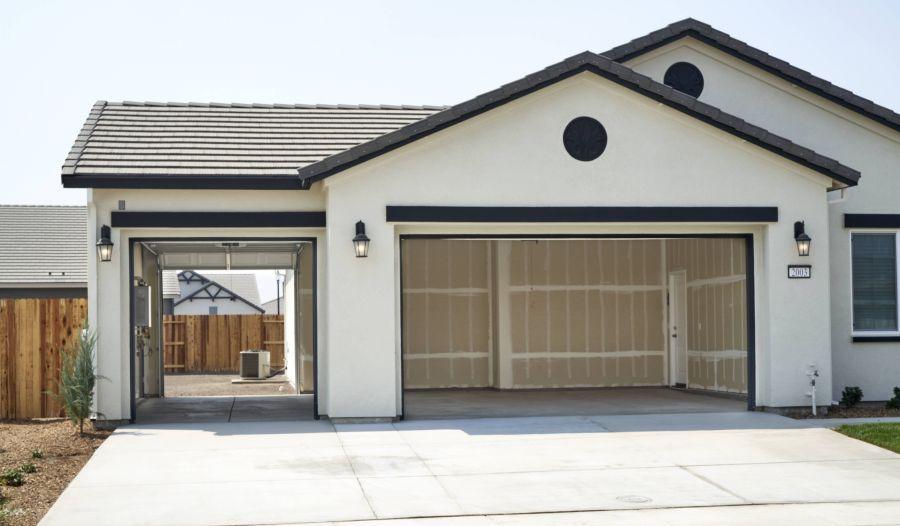 3-car garage with optional