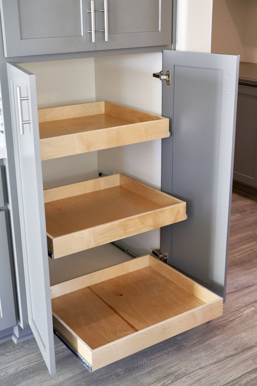 Pantry Option with roll-out drawers
