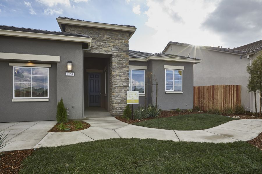 Elevation B as seen on Model Home