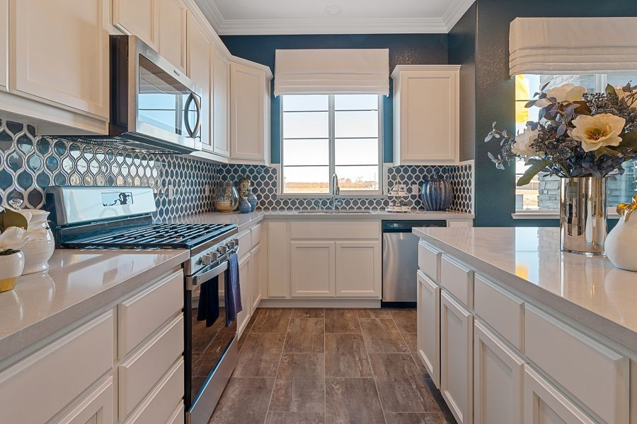Stainless steel on black appliances