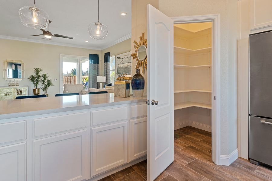 Walk-in Pantry with built-in shelves