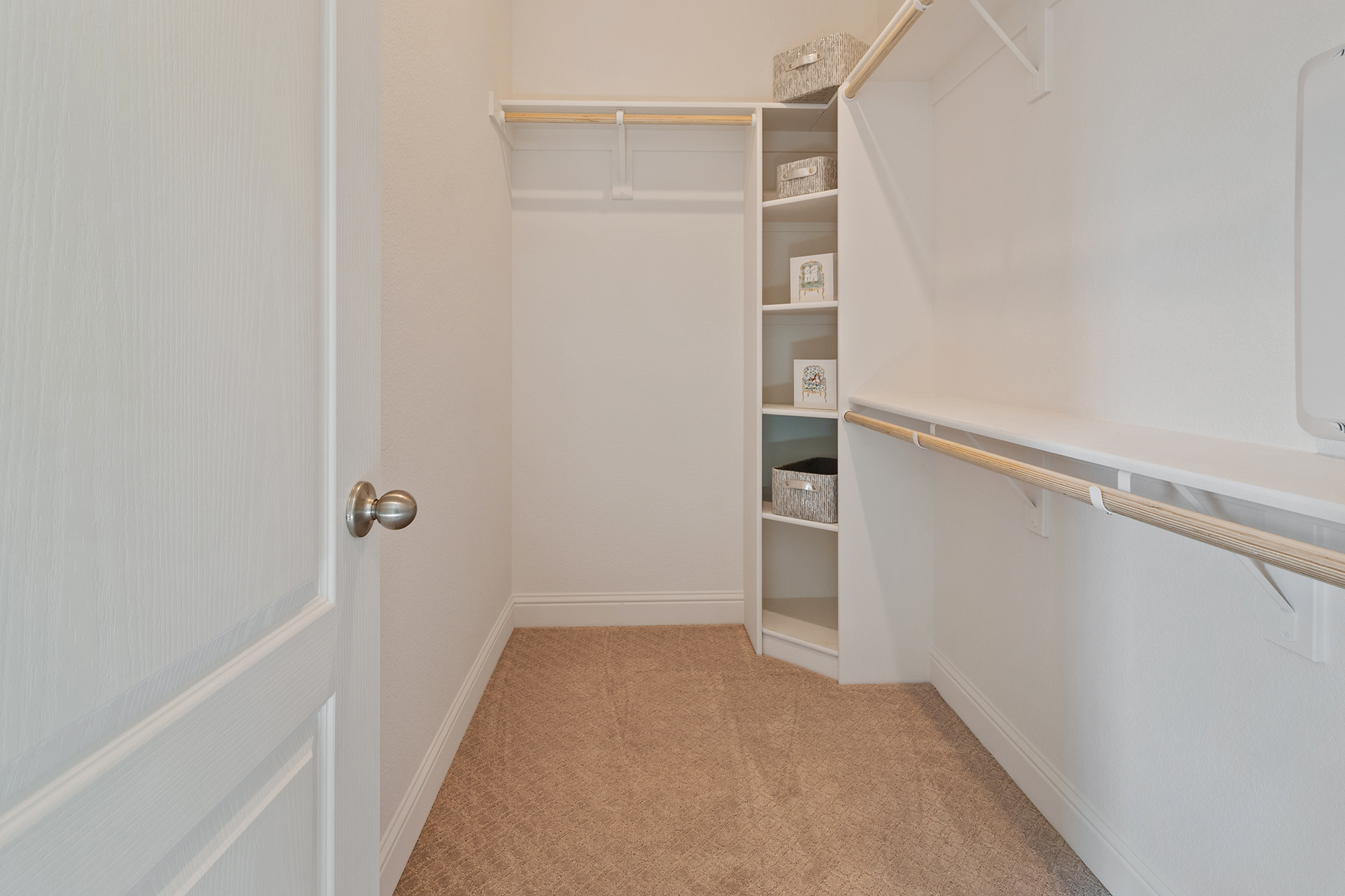 Two walk-in closets in the Master Suite