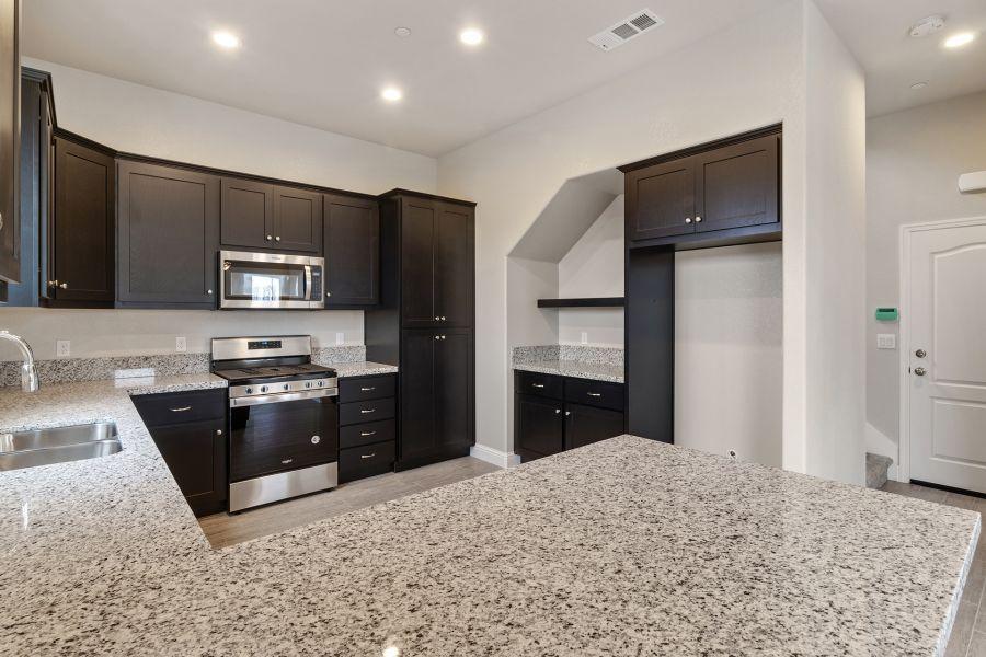 Solid surface granite or quartz countertops