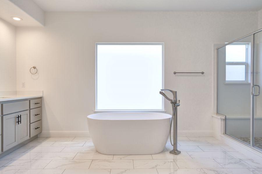 master bath - as built