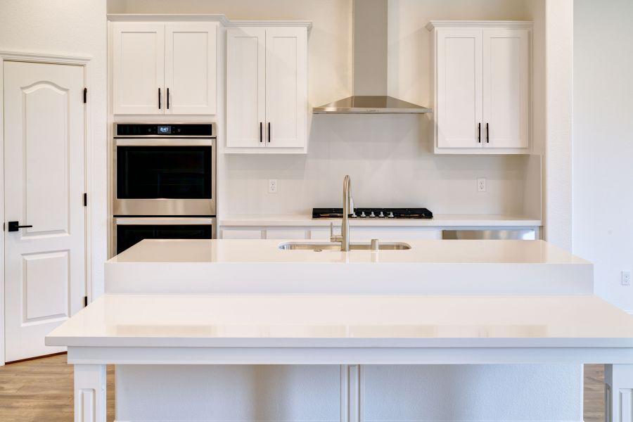 white-on-white kitchen - as built