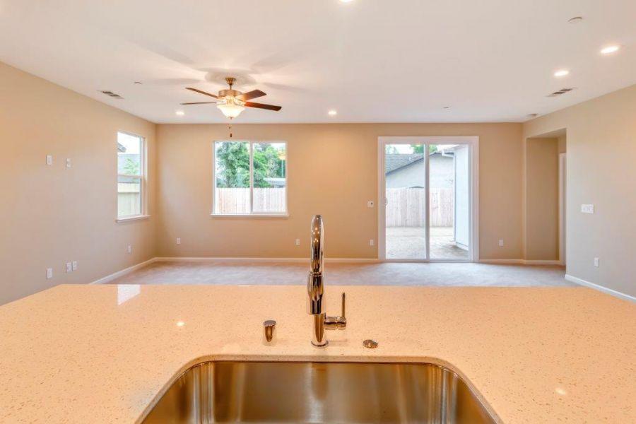 Quartz or granite countertop is included