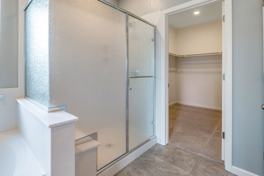 Master Walk-in Closet and Shower with Seat