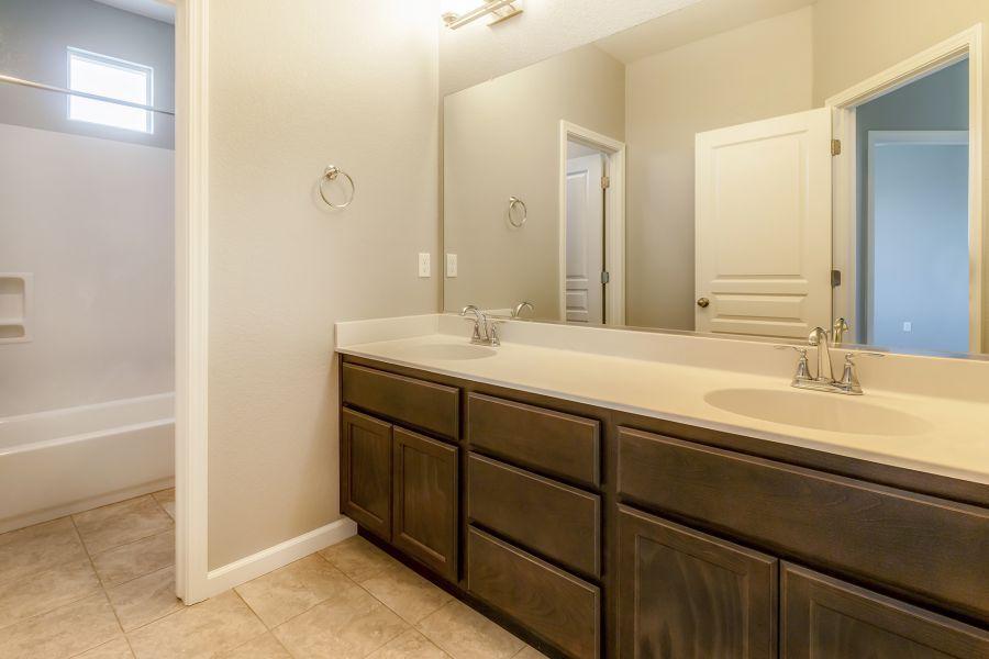 Upstairs Full Bath with Dual Vanity Sinks