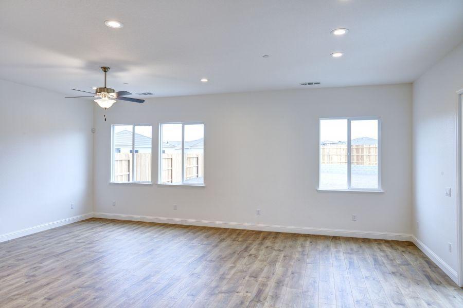 Laminate flooring in entertaining areas
