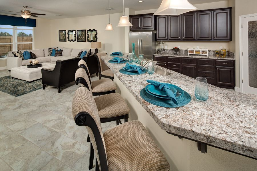 Oversized island perfect for casual dining