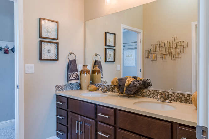 Jack and Jill bedrooms with shared bath