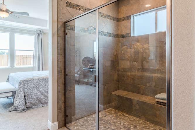 Master walk-in shower