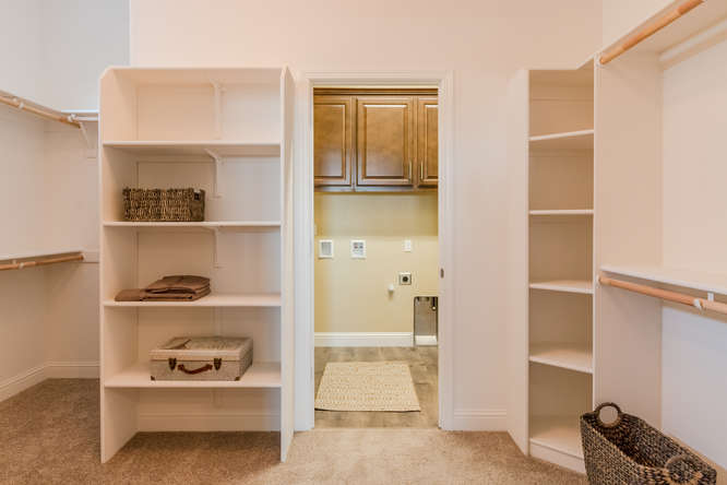 Master Walk-in Closet with optional door to Laundry