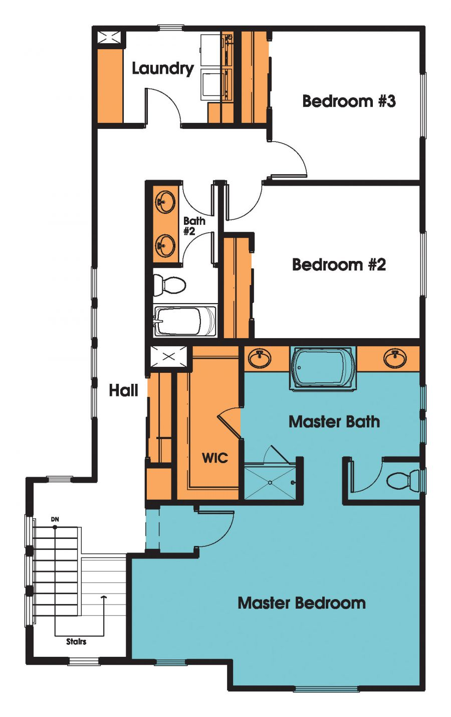 The Starla House Plan is a Two-Story Home with Four Bedrooms
