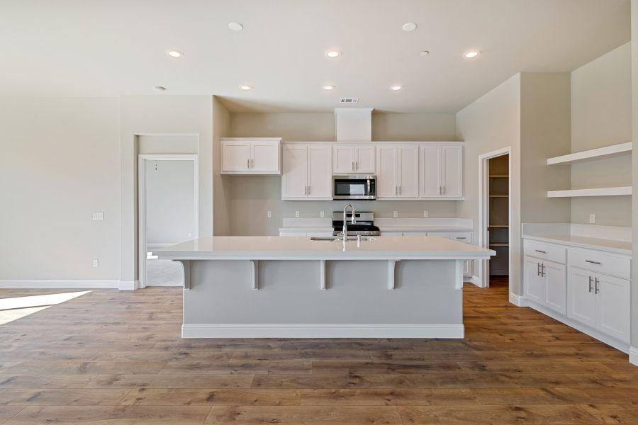 Kitchen with Quartz Countertops