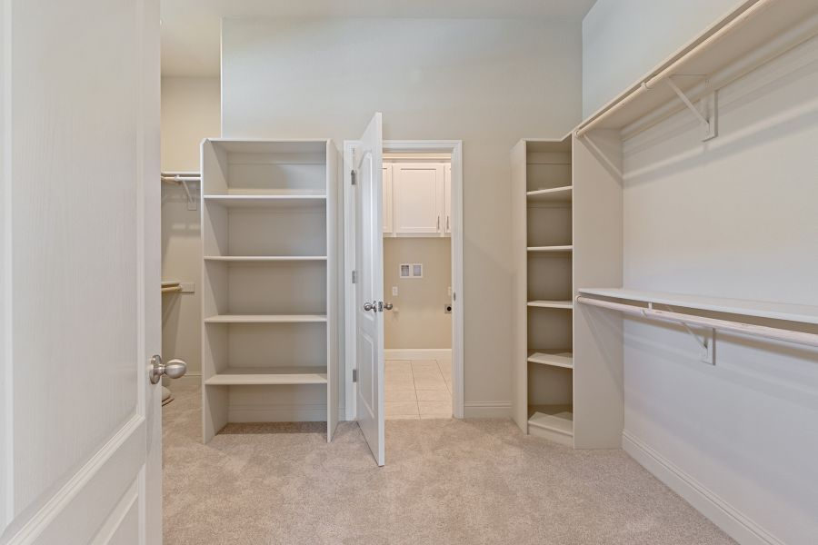 Master closet with built-in organization