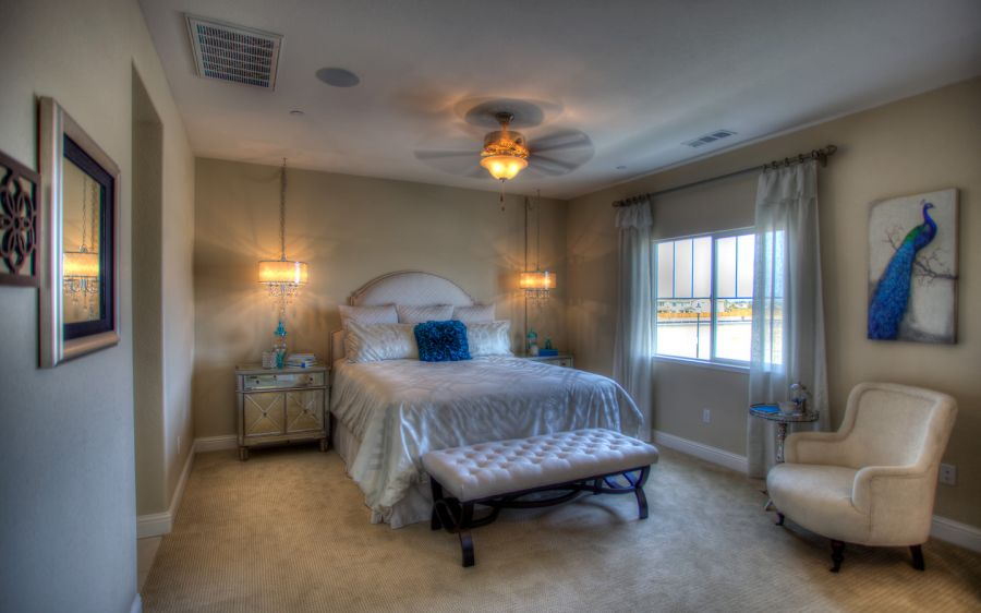 Spacious Master Bedroom - Ceiling Fan is Standard
