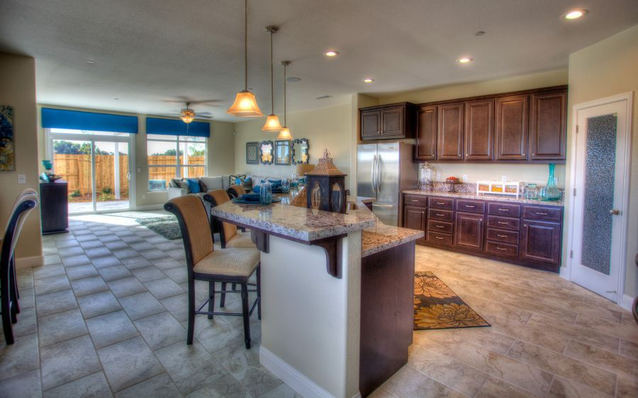 Large, Central Kitchen Island