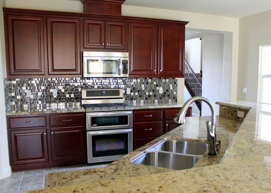 Check out this creative backsplash!
