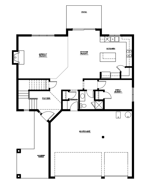 The maple for Main level floor plans