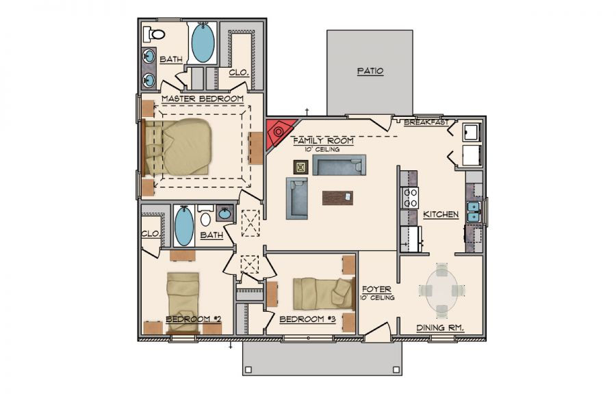 Birch plan floor plan in al available homes for Home builders in alabama floor plans