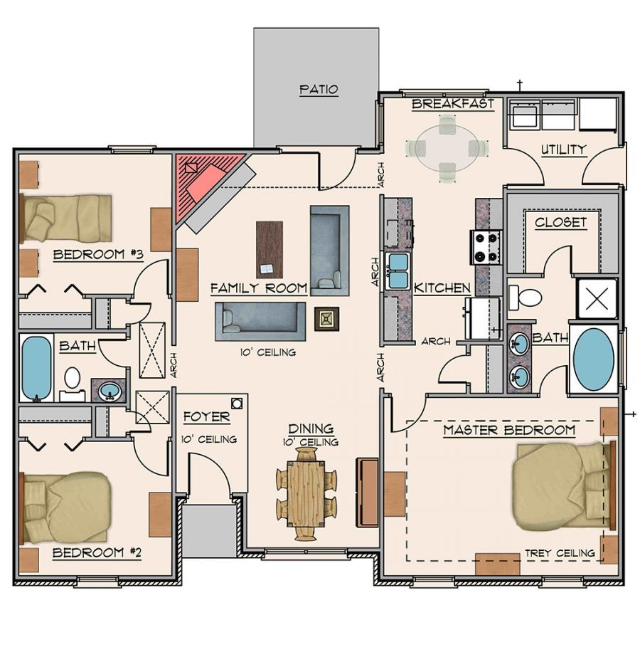 Goodwyn homes charlotte plan floor plan in al for Home builders in alabama floor plans