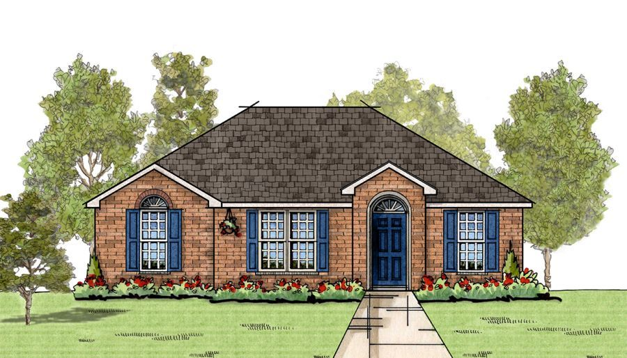Goodwyn homes poplar plan floor plan in al for Home builders in alabama floor plans