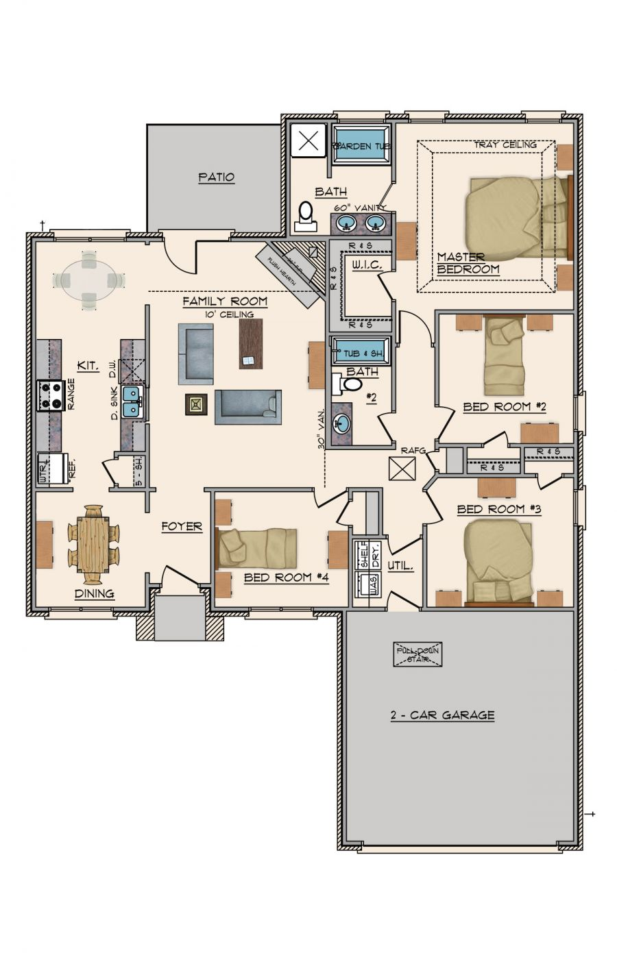 Goodwyn Homes Willow Plan In Midtown Oaks Floor Plan In Al