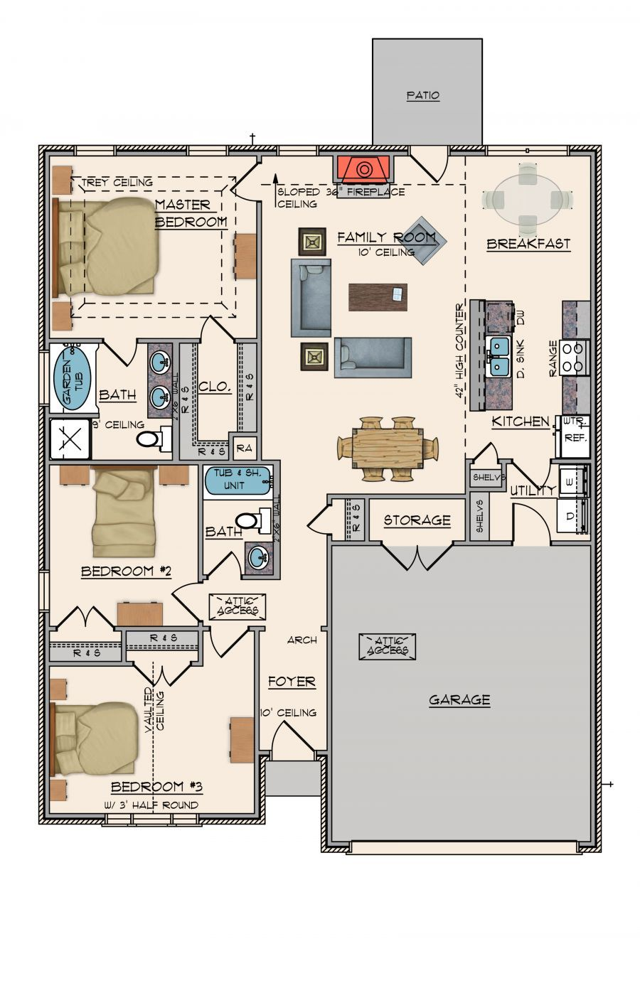 Goodwyn homes sweetbay plan floor plan in al for Home builders in alabama floor plans