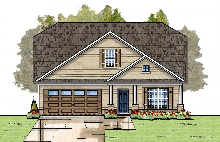Catherine plan floor plan in al new homes for Home builders in alabama floor plans