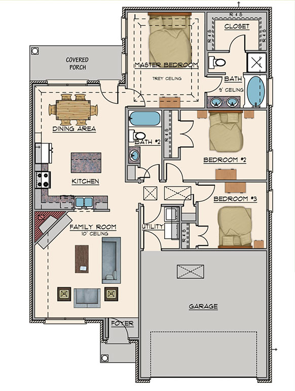 The Lily on Vintage Way, Floor Plan, Goodwyn Homes