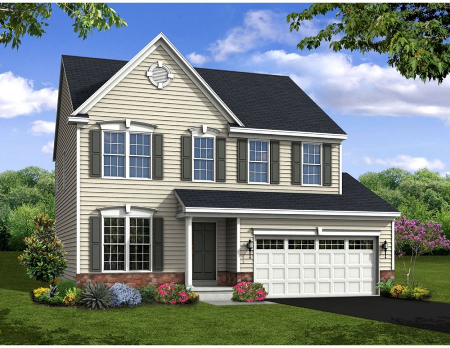 Fallston II Elevation at Heritage Trace by Handler Homes