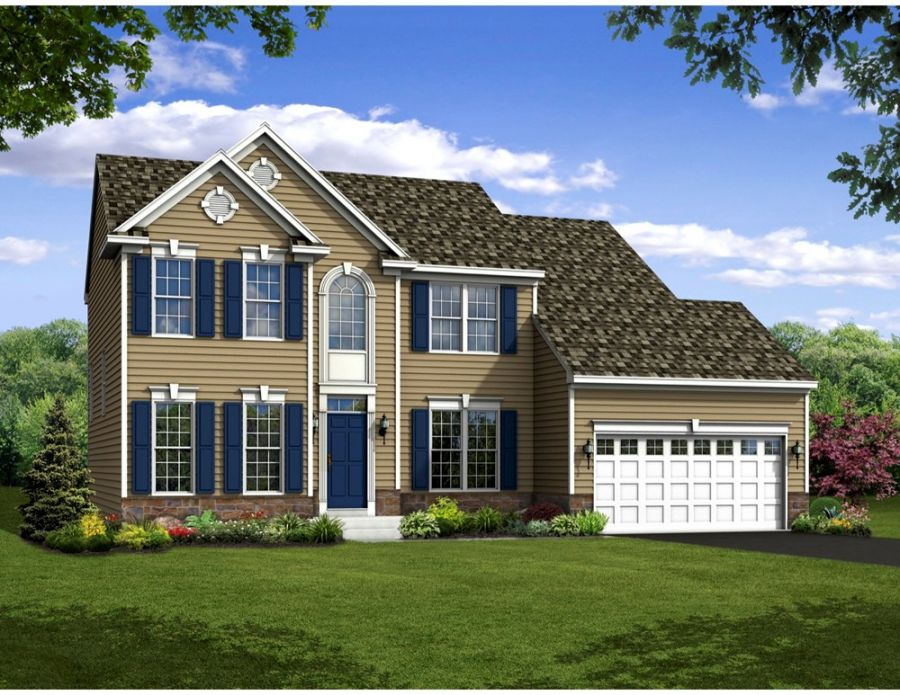 Jamestown Elevation at Heritage Trace, Handler Homes