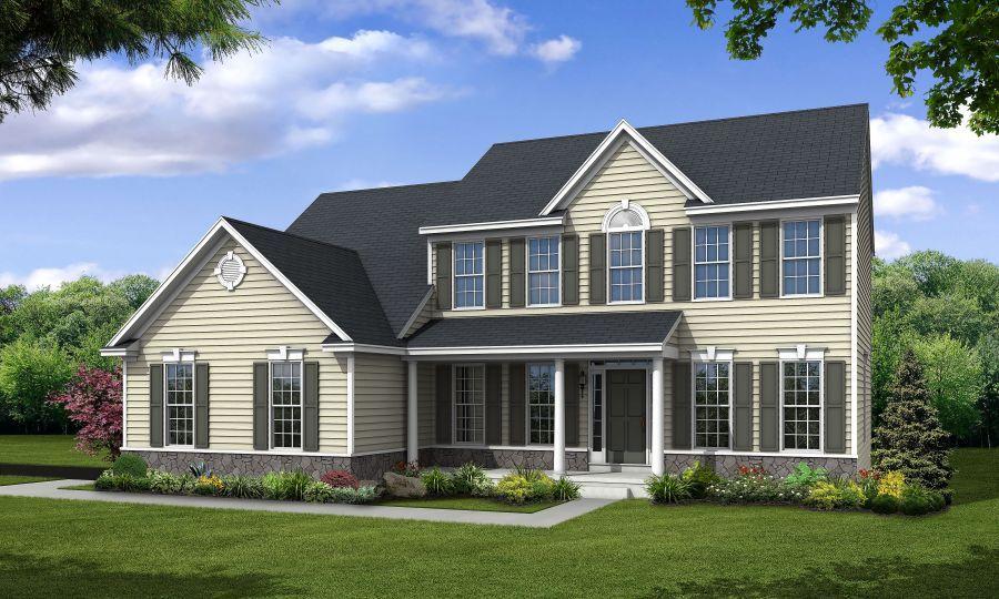 Handler homes delaware new homes floor plans jamestown ii for Wakefield house