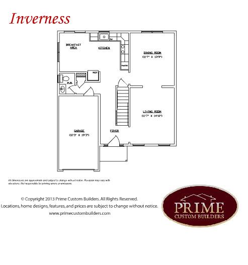 38 Park Road 1st Floor Floor Plan, Prime Custom Builders