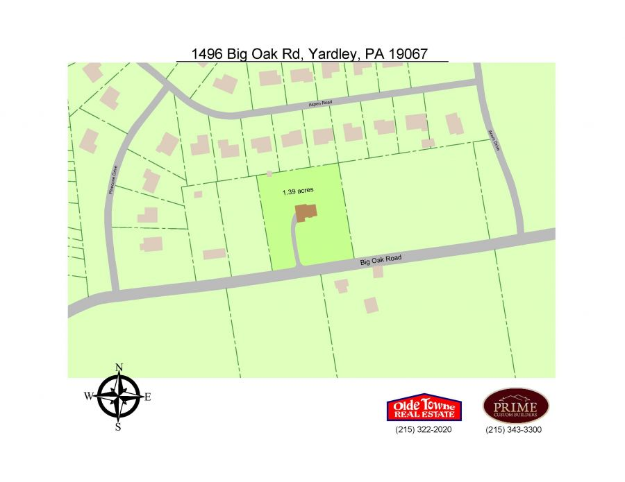 1496 Big Oak Road, Yardley (Lower Makefield Township), PA 19067