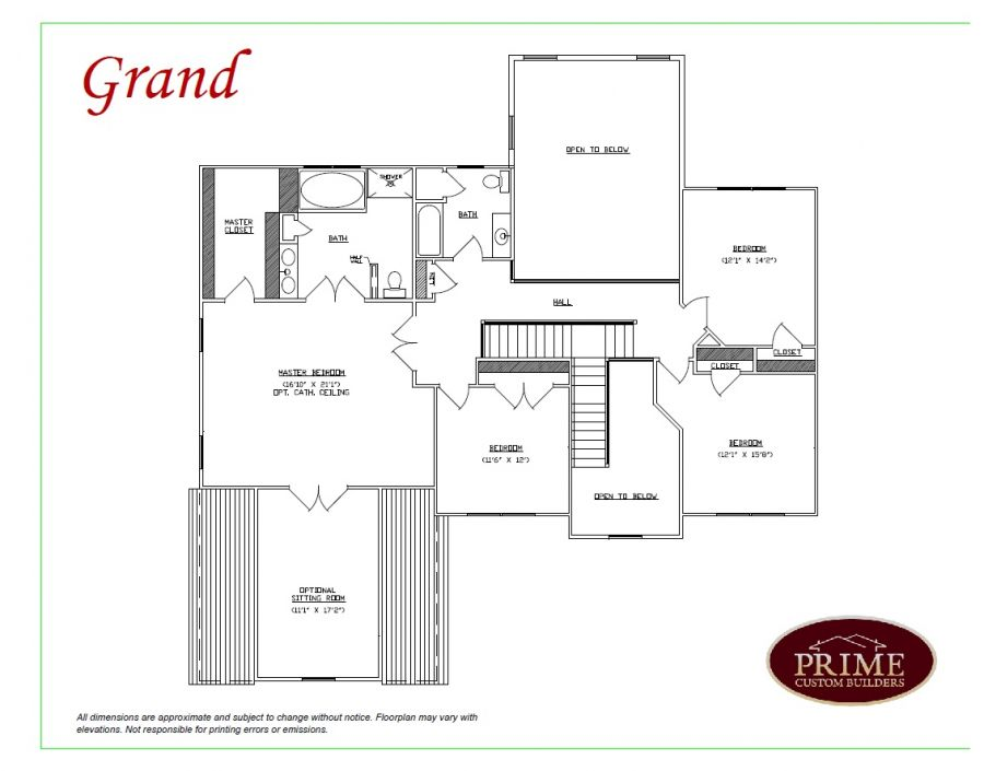 The grand classic house plans with multi level feature in pa for Grand homes floor plans