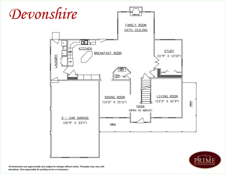 The devonshire custom floor plans in william township pa for Devonshire floor plan