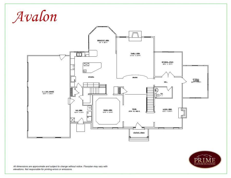 The avalon home plans for custom houses in doylestown pa for Avalon floor plan