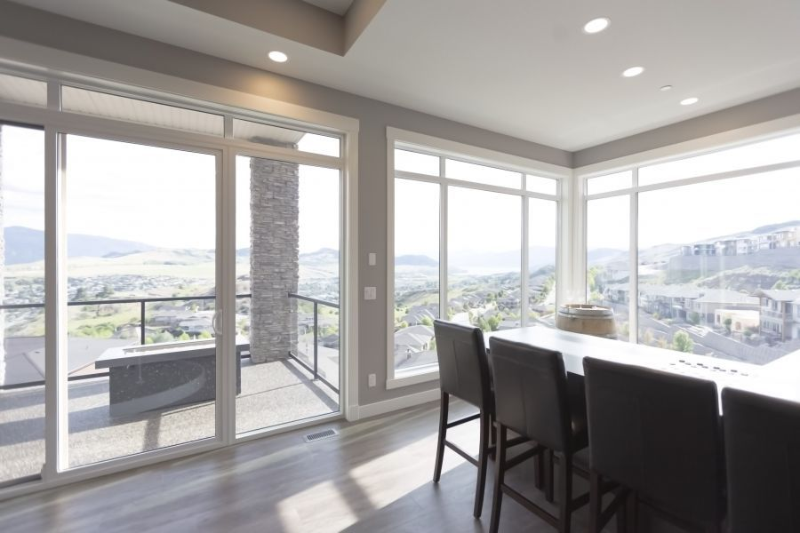 An Above Ground Basement with Tall Ceilings makes for Fantastic Views